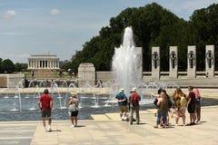 Waszyngton, DC - Czerwiec 01, 2018: Goście drugiej wojny światowa memori Zdjęcie Royalty Free