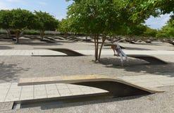 Waszyngton, DC - Czerwiec 01, 2018: Ludzie w Pentagon pomniku Obrazy Royalty Free