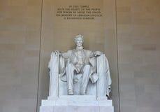 Waszyngton, DC - Czerwiec 01, 2018: Statuy Abraham Lincoln w Li Zdjęcie Royalty Free