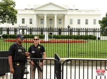 Waszyngton, DC - Czerwiec 02, 2018: Tajna Służba strażnik blisko W Fotografia Royalty Free