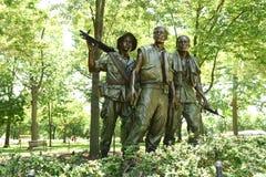 Waszyngton, DC - Czerwiec 01, 2018: Trzy żołnierza przy Vietna Fotografia Stock