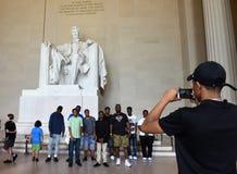 Waszyngton, DC - Czerwiec 01, 2018: Turyści robią fotografii blisko sta Obraz Royalty Free