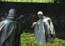 Waszyngton, DC - Czerwiec 01, 2018: Wojna Koreańska pomnik na Natio Zdjęcie Royalty Free