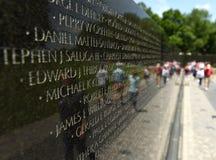 Waszyngton, DC - Czerwiec 01, 2018: Wojna W Wietnamie pomnik w domyciu Zdjęcie Stock
