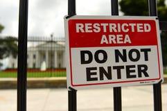 Waszyngton, DC - Czerwiec 02, 2018: Znak z wpisowym ` RESTR Zdjęcie Stock