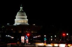Waszyngton DC, od Pennsylwania Bulwaru USA Capitol. zdjęcia royalty free