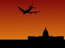 Waszyngton dc samolot. ilustracji