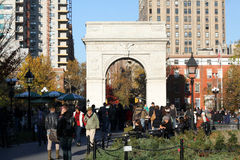 Waszyngton kwadrata park NYC Obraz Stock