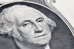 Waszyngton na Jeden Dolarowy Bill Obraz Royalty Free