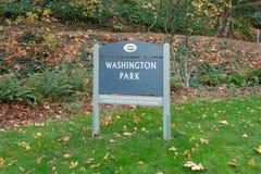 Waszyngton parka znak zdjęcie royalty free