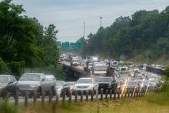 WASZYNGTON, usa - CZERWIEC, 23 2016 Maryland przekrwawiał autostradę na deszczowym dniu zdjęcie royalty free