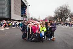 Waszyngton, USA Styczeń 21st, 2017 Kobiety ` s Marzec na Waszyngton Obrazy Stock