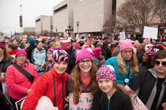 Waszyngton, USA Styczeń 21st, 2017 Kobiety ` s Marzec na Waszyngton Zdjęcie Stock