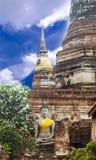 Wat亚伊柴Mongkhon Authaya,泰国 图库摄影