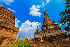 Wat亚伊柴Mongkhon在泰国 库存照片