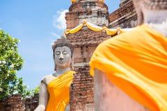 Wat亚伊柴Mongkol, Ayudhya 免版税图库摄影