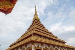Wat农旺在Khon Kaen,泰国 库存照片