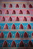 Wat四色菊-其中一个有数千雕塑的著名万象寺庙buddhas 图库摄影
