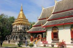 Wat城镇人佛教寺庙,清迈,泰国 库存照片