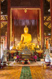 Wat帕纳陶寺庙-清迈,泰国 免版税库存照片