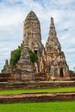 1629 Wat庄严废墟柴Prasat国王修造的Watthanaram 库存图片