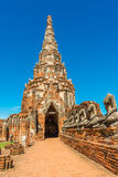1629 Wat庄严废墟柴Prasat国王修造的Watthanaram 库存照片