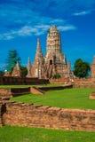 1629 Wat庄严废墟柴Prasat国王修造的Watthanaram 免版税图库摄影