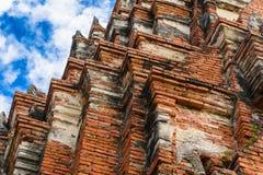 1629 Wat庄严废墟柴Prasat国王修造的Watthanaram 免版税库存照片