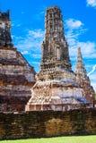 1629 Wat庄严废墟柴Prasat国王修造的Watthanaram 图库摄影