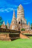 1629 Wat庄严废墟柴Prasat国王修造的Watthanaram 免版税库存图片
