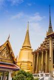 Wat Phra Kaeo金黄塔  免版税库存照片