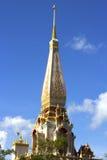 Wat查龙寺庙普吉岛,泰国 免版税库存照片