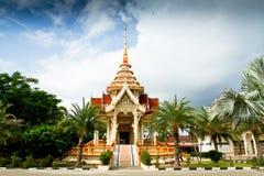 Wat查龙寺庙,普吉岛,泰国 图库摄影