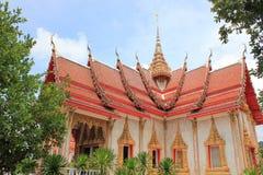 Wat查龙寺庙,普吉岛,泰国 免版税库存照片