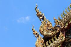 Wat柴Mongkon -佛教寺庙,清迈泰国 免版税库存照片