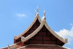 Wat柴Mongkon -佛教寺庙,清迈泰国 免版税库存图片