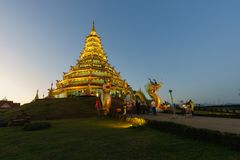 Wat槐Pla Kha在清莱,泰国2017年 库存照片
