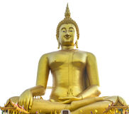 Wat的Muang Angthong最大的菩萨在泰国 库存图片