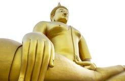 Wat的Muang Angthong,泰国最大的菩萨 图库摄影
