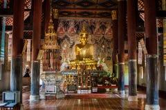 Wat的Nong Bua, Muang区,楠府,泰国菩萨 寺庙是一个公共场所 创造100岁 库存照片