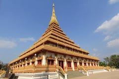 Wat的Nongwang, Khon Kaen泰国塔 库存照片