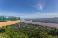Wat的Pha达Suer,廊开,泰国湄公河 免版税库存图片