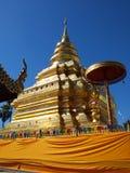 Wat的Phrathat Sri Jomthong,泰国塔 免版税图库摄影