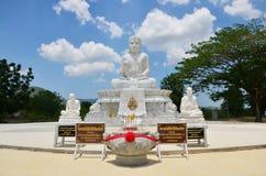 Wat的Pusawan Phetchaburi泰国Maitreya菩萨 免版税库存图片