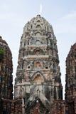 Wat的Si Sawai, Sukhothai历史公园, Sukhothai Tha塔 免版税库存图片