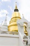 Wat的Suan Dok塔在清迈,泰国 免版税库存照片