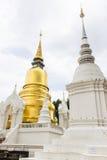 Wat的Suan Dok塔在清迈,泰国 库存照片
