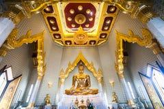 Wat的Traimit,曼谷,泰国金黄菩萨 库存图片