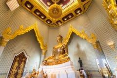 Wat的Traimit,曼谷,泰国金黄菩萨 库存照片