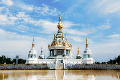 Wat皮带SED thi寺庙khonkaen省,泰国 库存图片